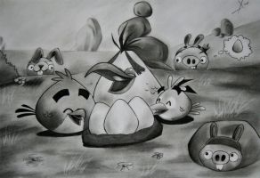 Angry Bird and Piggies by XionCloudHeaven