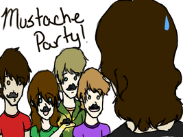 Mustache Party by Heddah
