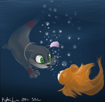 omg fish by LSlunabelle