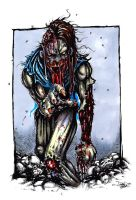 Zombie Sketch by dsilvabarred