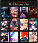 2015 Art Summary by ZeroJigoku