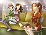Mys, Kat and Mallory by MisterEye
