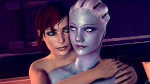 FemShep and Liara 3 by Rescraft