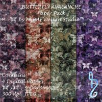 Butterfly Avalanche Paper Pack by MissAFDesignStudio