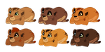 Adoptable newborn cubs 6 by AlbinoWolf296