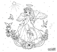 Xmas 2015 Contest - Lineart by JadeDragonne