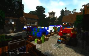 Sharthur City Project | Market Stalls by MinecraftPhotography