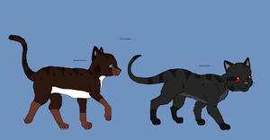 Yugo and Bonnie in thier cat forms by Natalia-Clark