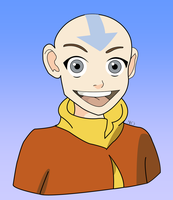Colored Aang by SIDNEYG