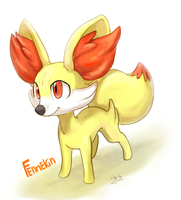 Fennekin by DragonAsis