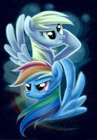 Dash and Derpy by Adlynh