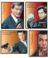 Series of  James Bond Stamps by PreciousVet