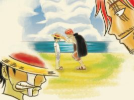 Commission: Luffy and Shanks by VictorYonemura