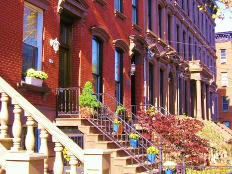 Decorated Brownstones by DadaKool