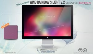 windows 8 rainbow's light v.2 wallpaper by enemia