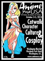 AnimeUSA 2014 T-Shirt Design by kevinbolk