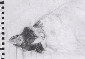 sleeping cat by zlaja