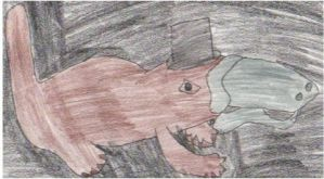 For Selm-a platypus with a top hat in space by Hannah-Needle