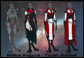 Character Reference - Bellica by ThistleSpear