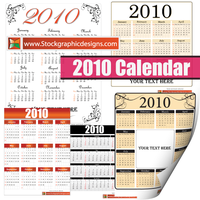 2010 Free Vector Calendar by Stockgraphicdesigns