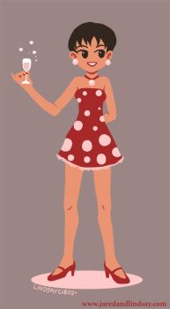 Polkadot Girl by peachfuzzmargins