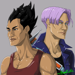 Vegeta And Trunks by Botticella89