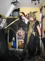dragon costume finished (front) by queenofeagles
