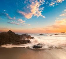 Premade beach background by little-spacey