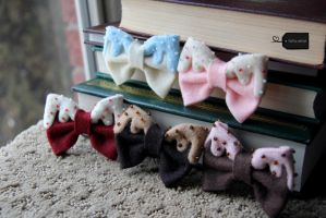 Assorted felt Pastry Bows by FluffyParcel