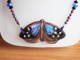 Purplewing Buttefly Necklace by Phoenixartstudio