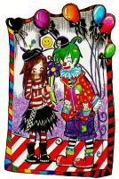 +.+the mime and  the clown+.+ by karinafita