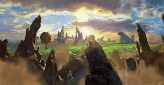Landscape from Oz the Great and Powerful by DreamyNatalie