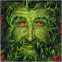 Green Man Yule the Holly King by CelynsCorner