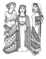 Ancient Assyrian Girls by GingerOpal