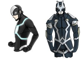 Havok and Black Bolt Redesign by Jun89