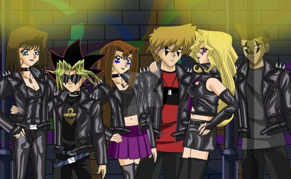 Yugi And The Gang Punk Style 1 by Duel-Monsters