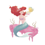 Ariel and Flounder by matthoworth