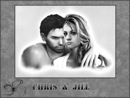 chris x jill by cyber-rayne