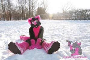 Pinky Snow by FurryFursuitMaker
