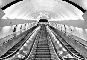 Prague Subway Escalators by pingallery