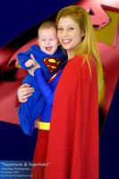 Supermom and Superbaby by JimCorrigan