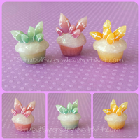 Crystal Cupcakes by StupidSiren