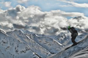 Skier 2 on Kicking Horse Mtn by skip2000
