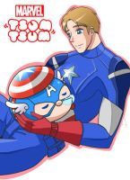 Marvel Tsum Tsum: Captain America by Evelynism