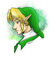 OoT Link- Legend of Zelda by chewytriforce