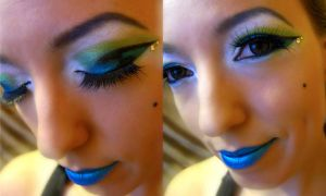 peacock makeup by pattasy
