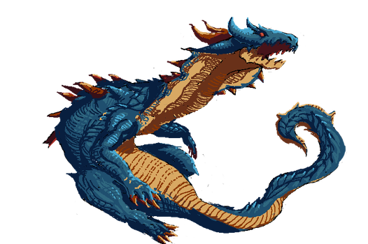 Lagiacrus Sprite by Nighteba