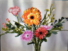 Bouquet - done on Nintendo DS Art Academy by Annzig