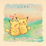 Monthly Pikachu - June by Paleona