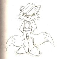 Miles 'Anti-Tails' Sketch by Suirano